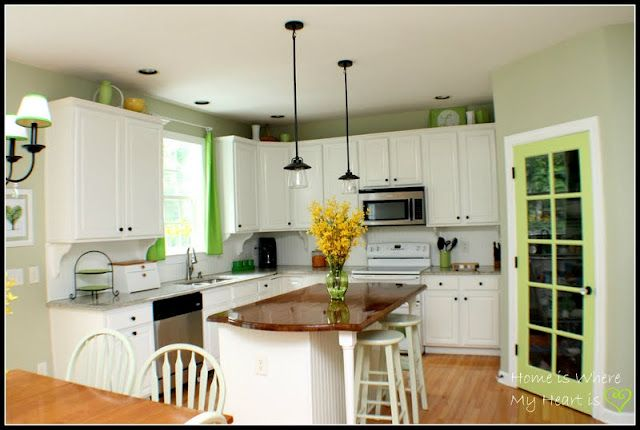 Kitchen Makeover With Green Accent Color Blogger Home Projects We