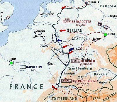 Allies Pursuit After The Battle Of Leipzig The Department Of - Allies us map