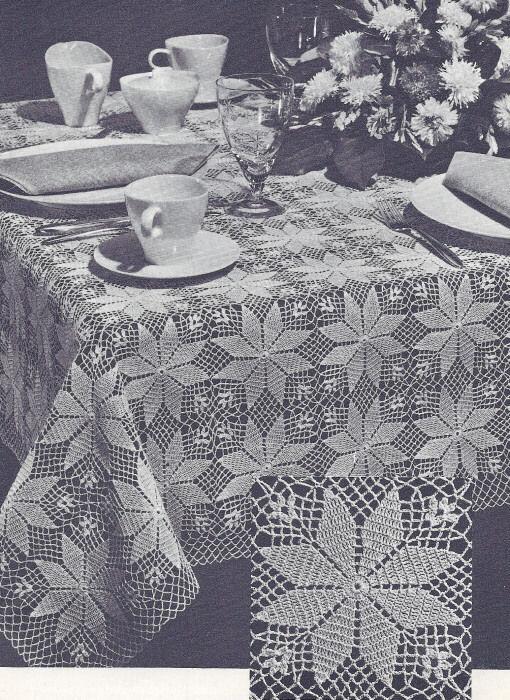 vintage crochet pattern motif tablecloth shining star products rh pinterest com
