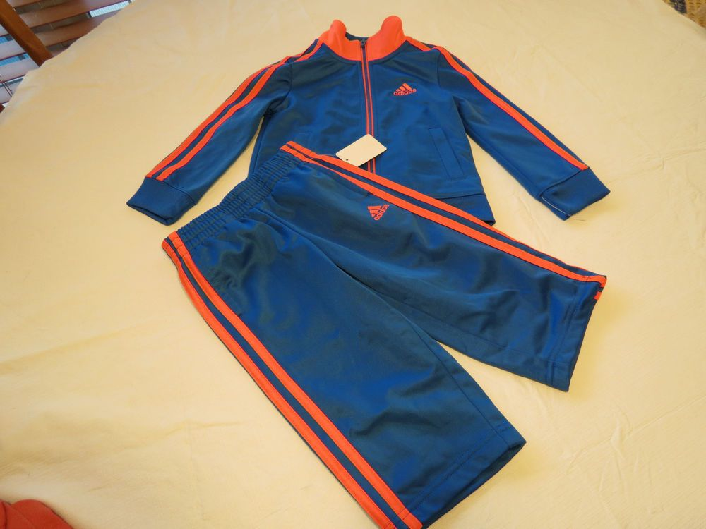 Boy/'s Baby adidas active jacket pants set AG5791 2T toddler dk blue royal yellow
