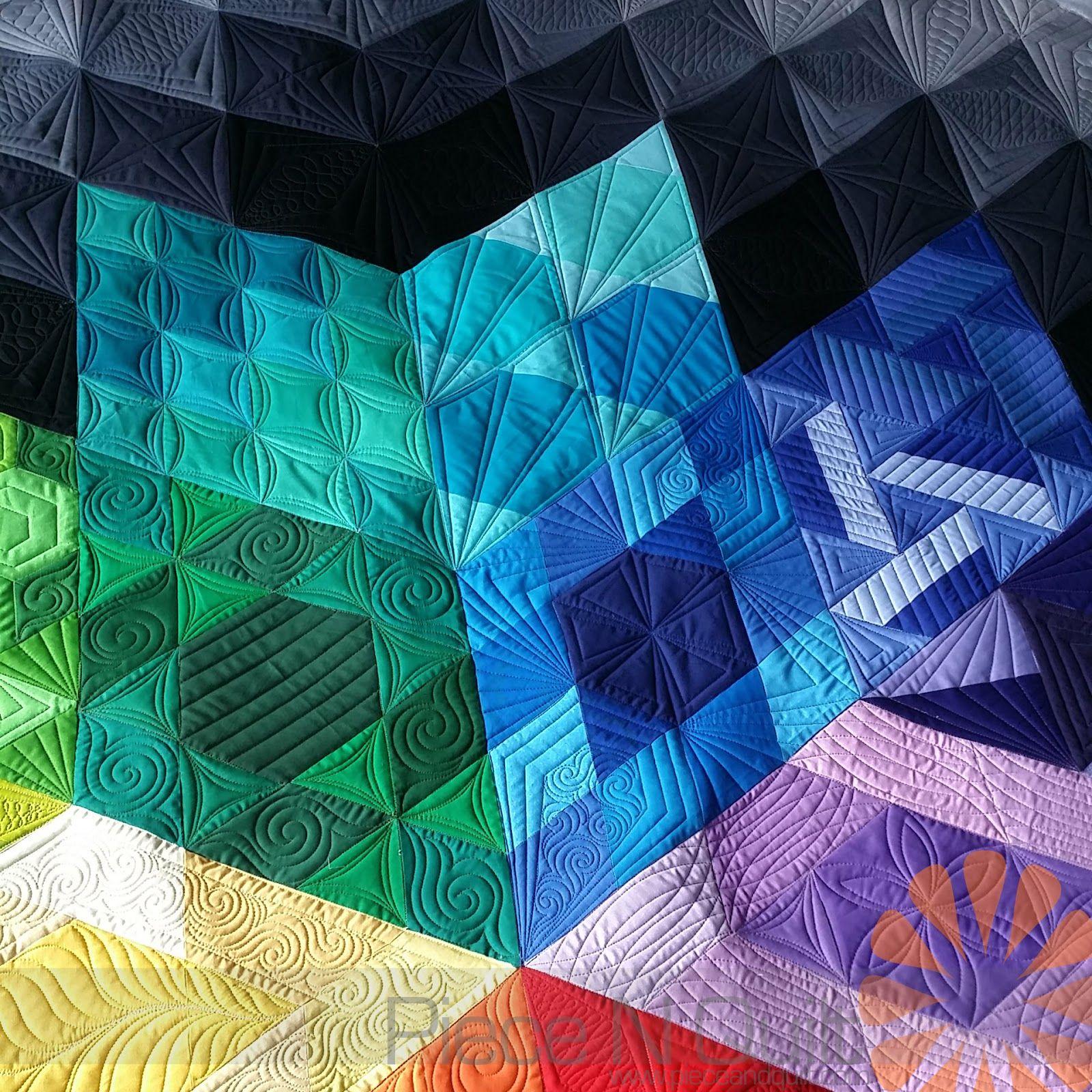 Piece N Quilt: Gravity Quilt - Custom Machine Quilting by Natalia ...