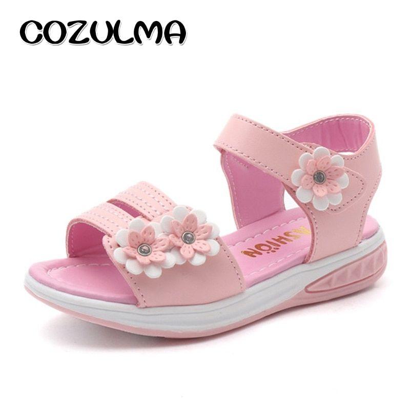 COZULMA Girls Flower Sandals Children
