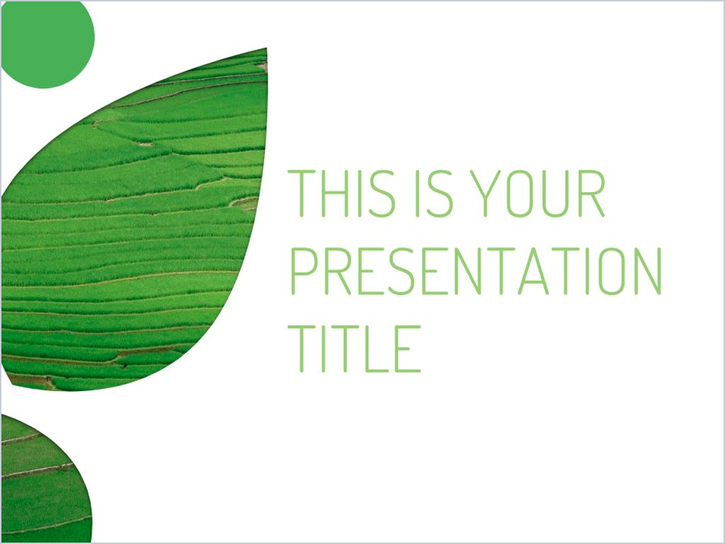 Free green Powerpoint template or Google Slides theme with