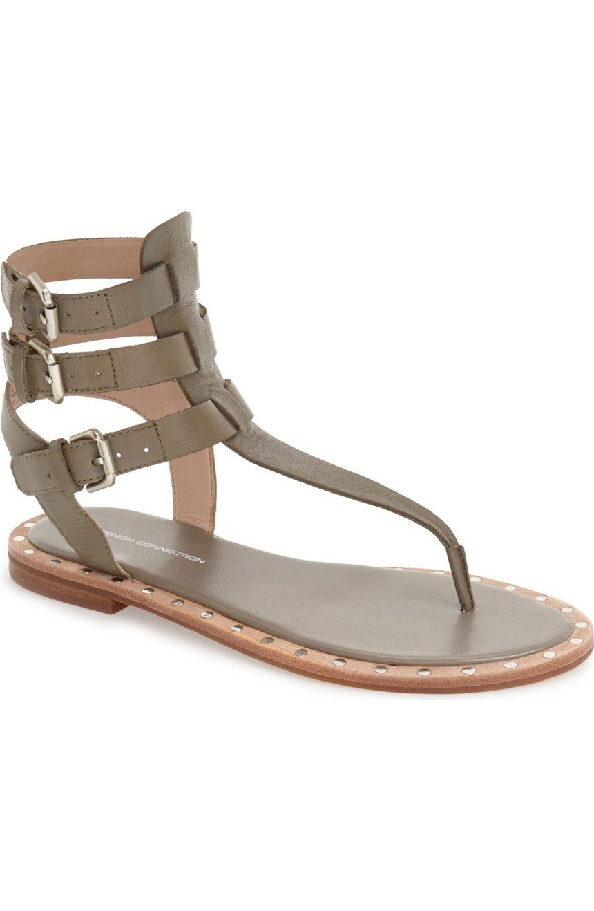 bfcb16ff6b20fe French Connection  Imanna  Flat Gladiator Sandal