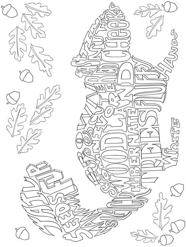 Free printable coloring page from Dover Publications