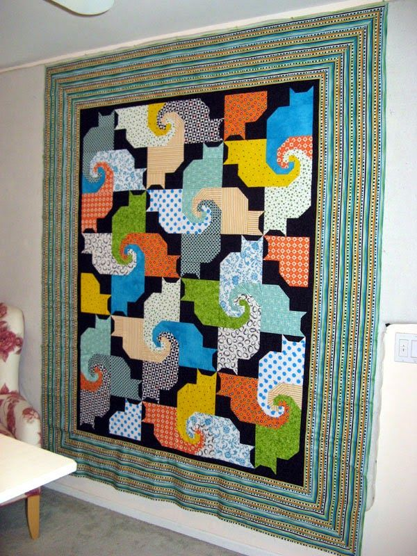 Kool Kats Quilt By Kwiltnkats Based On The Free Pattern