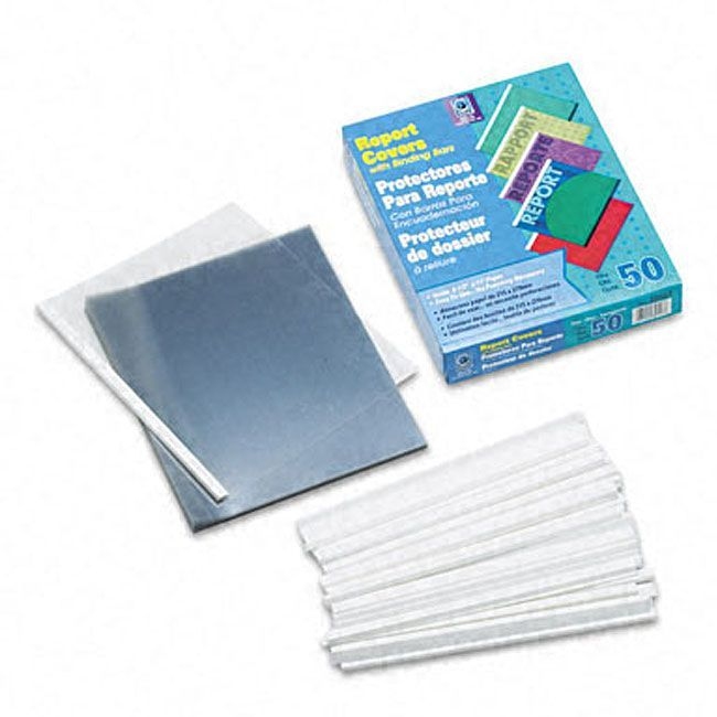 No-Punch Clear Report Covers with Binders