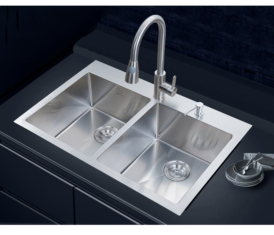 33 X 22 Overmount Kitchen Sink With Images Undermount