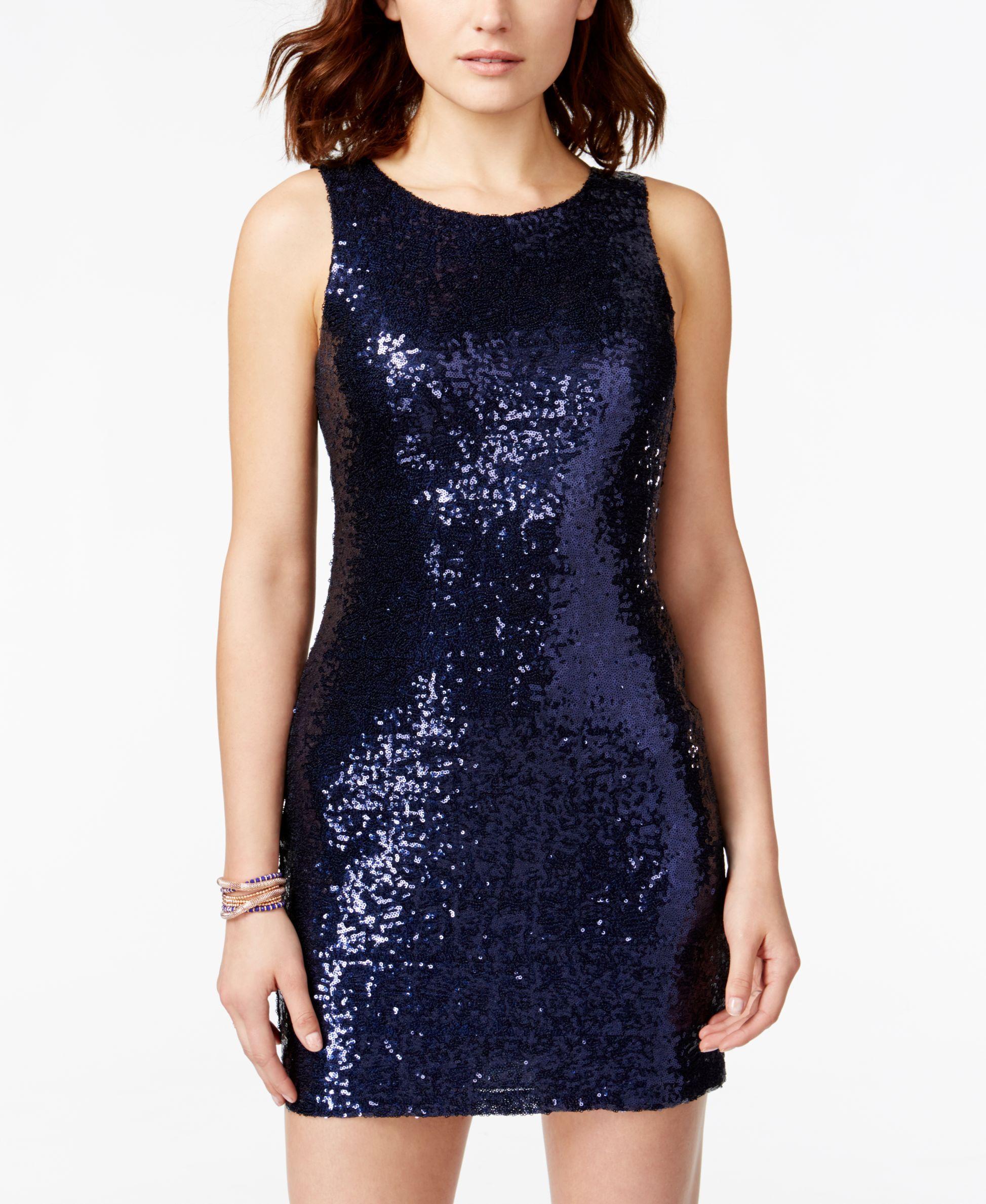 61926b32de34e Crystal Doll Juniors' Sequin Bodycon Tank Dress | Dress | Dresses ...
