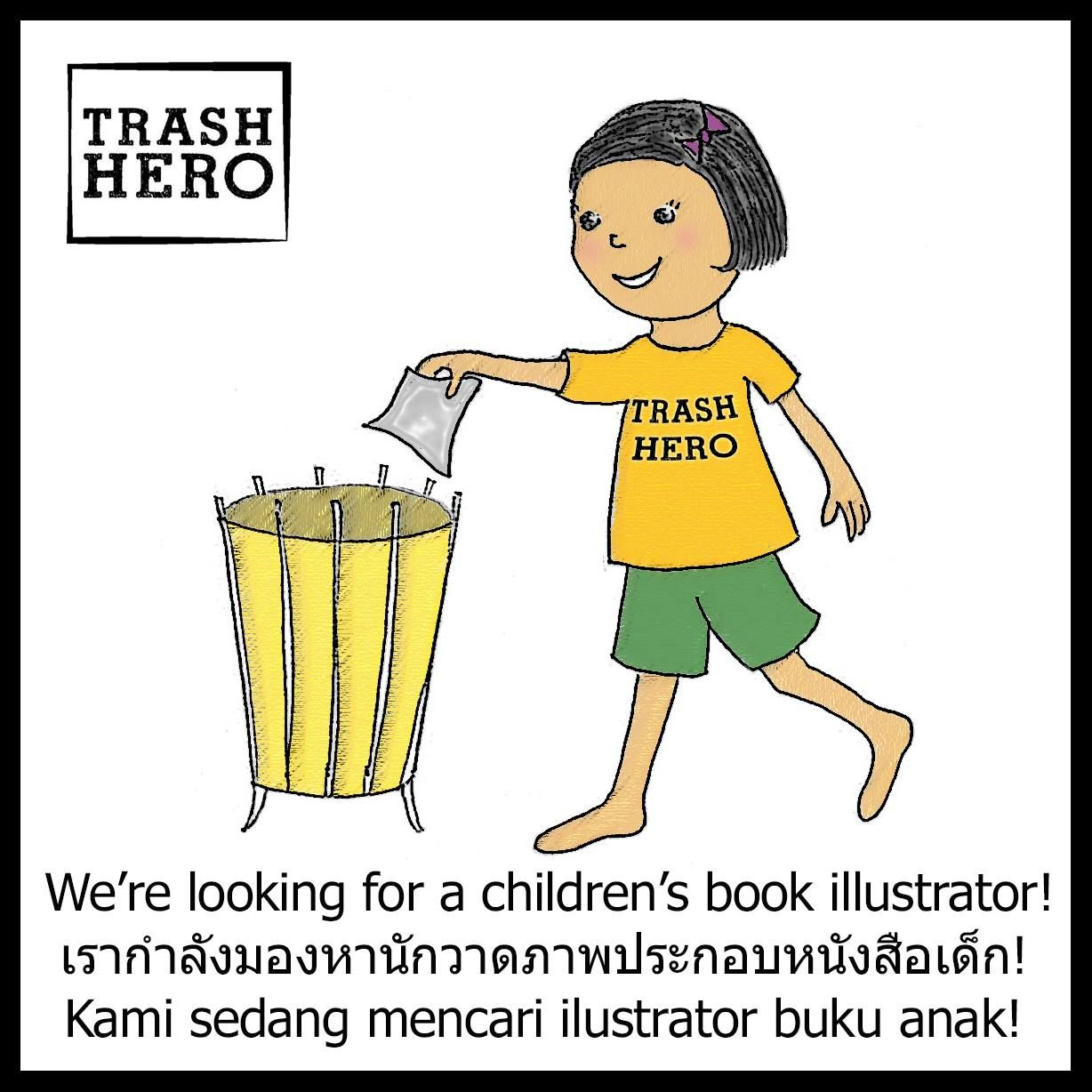 DESIGN TRASH SUPERHERO CHARACTER! Awesome environmental organisation Trash Hero is looking to collaborate with a children's illustrator (or wannabe illustrator) to produce an educational story for kids around the world. The text is ready to go, all they need now is a talented individual to help make the words come to life! Trash Hero is…