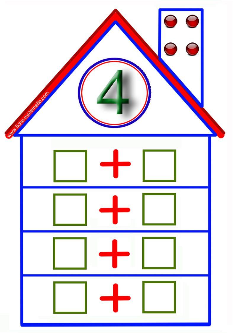 jeux math matiques en maternelle la maison des additions apprentissage math matique. Black Bedroom Furniture Sets. Home Design Ideas