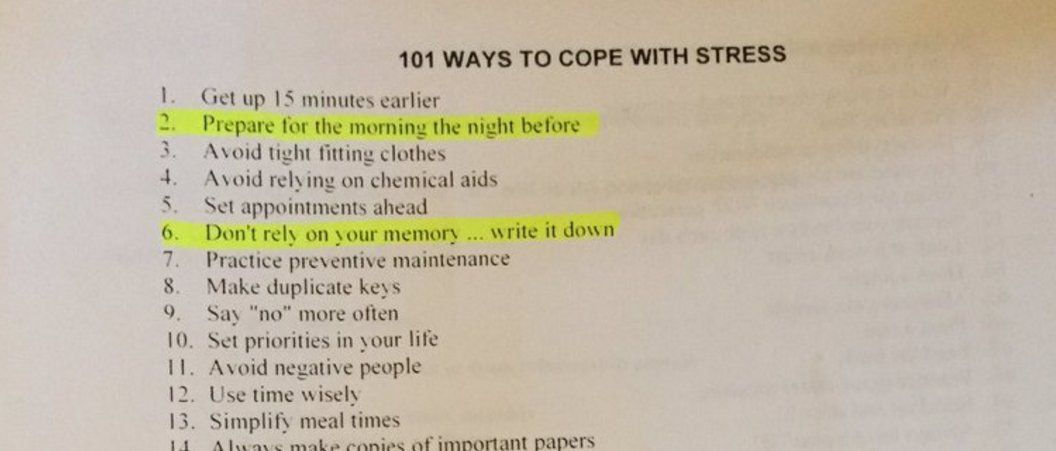 101 ways to cope with stress in case youre running out