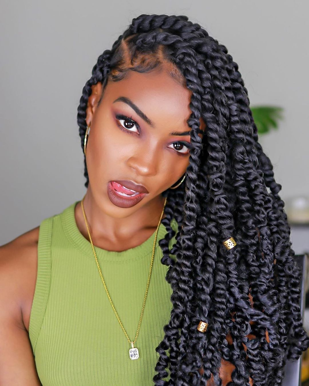 Voiceofhair On Instagram These Goddess Twists On Slimreshae Are Gorgeous Would You Rock Twist Braid Hairstyles Natural Hair Styles Twist Hairstyles