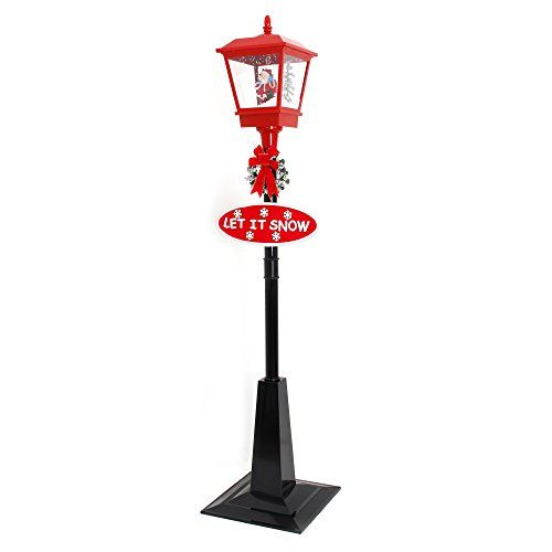 More Designs Indoor Outdoor Snowing Santa Clause Christmas Tree Street Lamp Post 71 Festive Waterproof Decoration With Snowfall Musical Led Lights By Oye H Street Lamp Post Street Lamp Lantern Post