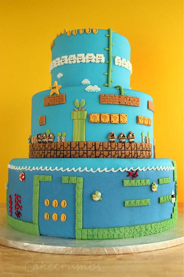 Mario cakes | Super Mario Bros. Layer Cake, I Mean Level Cake