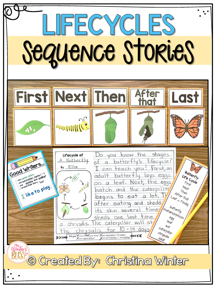 Sequence Writing Prompts Plant And Animal Life Cycles Distance Learning Sequence Writing Second Grade Writing Writing Prompts