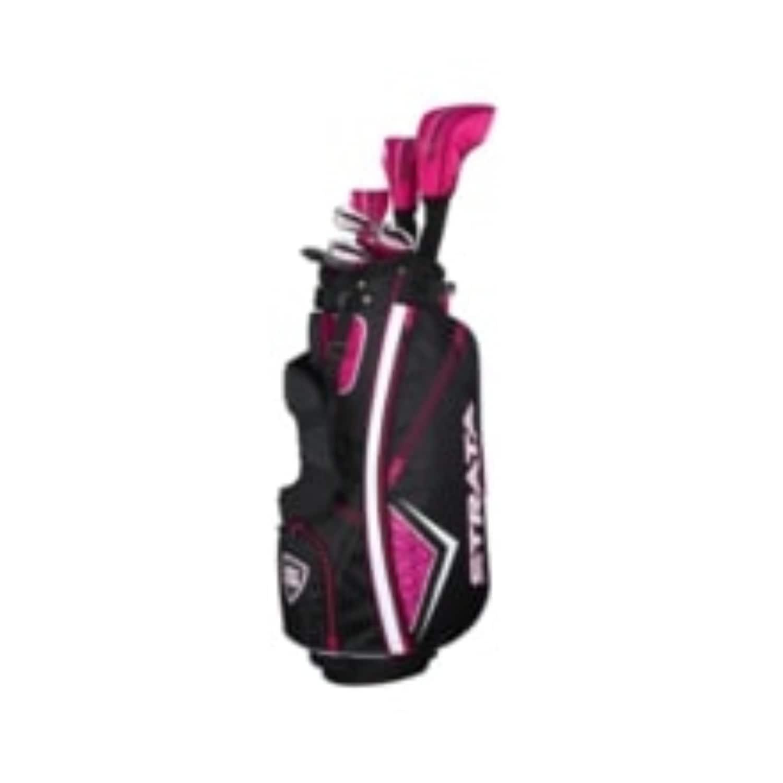 Womens Left Handed Golf Clubs >> Strata Women S Golf Package Set 11pc Left Handed Golf Clubs Brown