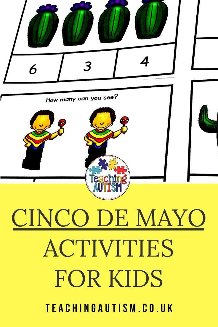 Cinco de Mayo Math Ten Frame Task Cards Autism teaching