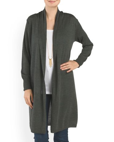 image of Merino Wool Open Cardigan