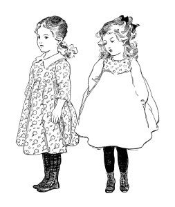 old fashioned halloween coloring pages | vintage school girl clip art, old school graphics ...
