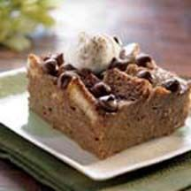 Chocolate & Irish Cream Bread Pudding - Top this delectable chocolately delight with fluffy whipped cream and a sprinkling of cocoa!