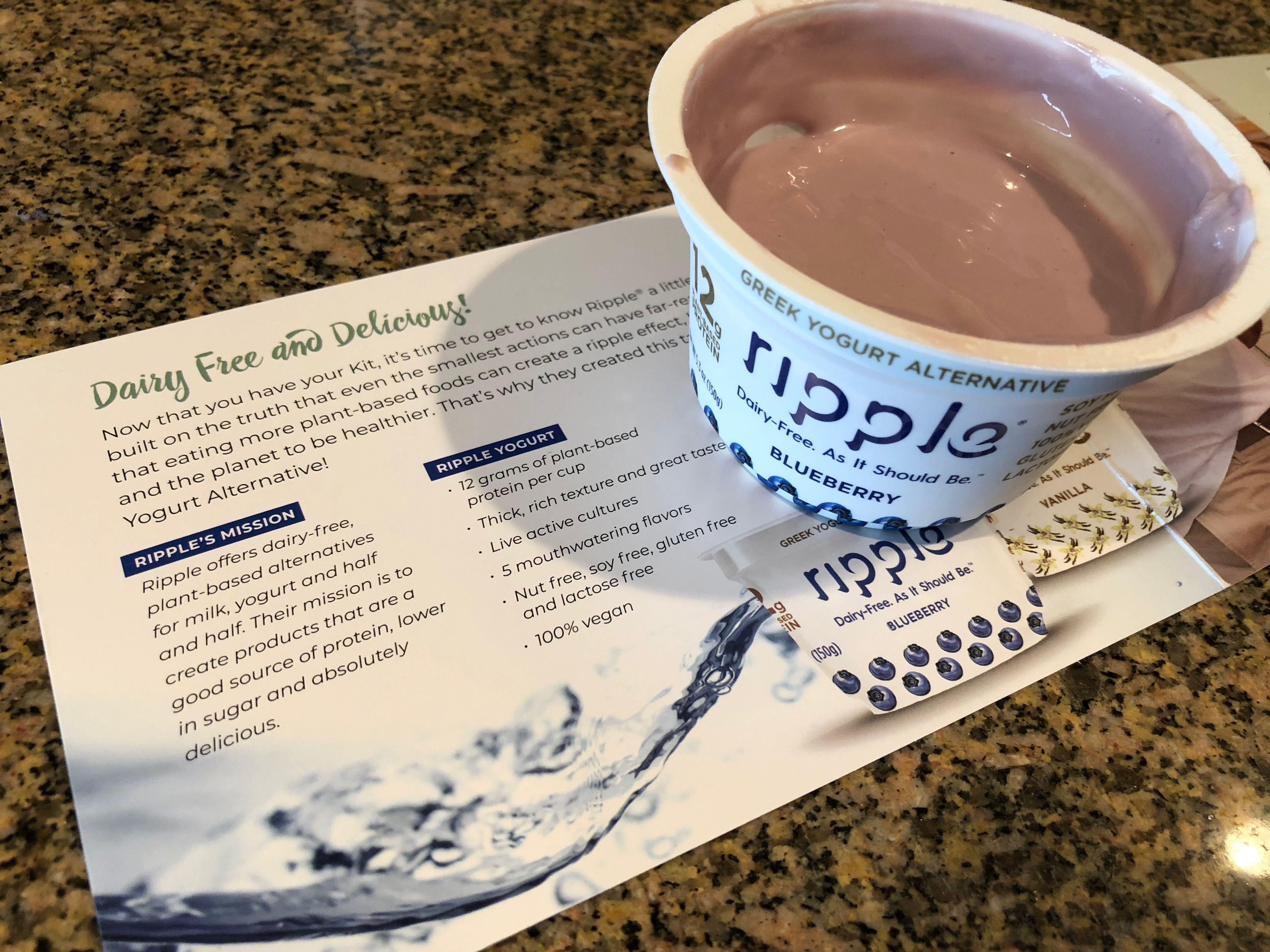 RippleYogurt MyMagazineSharing FreeSamp Dairy free