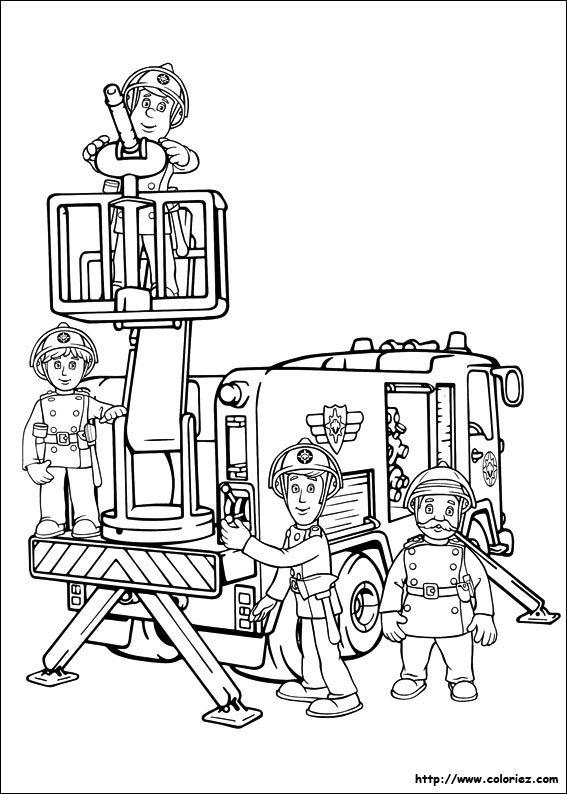 Coloriage Sam Le Pompier Et Jupiter Coloriage Pompier Coloriage Coloriage A Imprimer