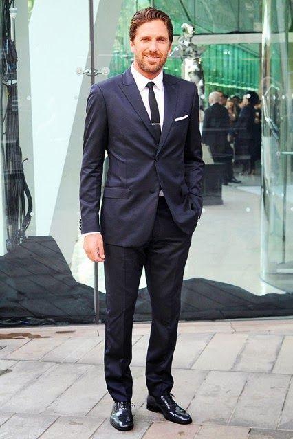 Henrik Lundqvist Sporting A Calvin Klein Suit Classy Nhl Gq