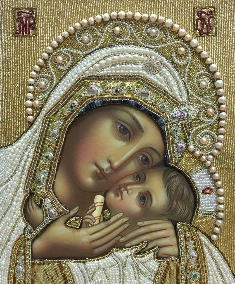 """Икона Божией Матери """"Касперовская"""" (1853–1855)   Православные иконы,  Православное христианство, Дева мария"""