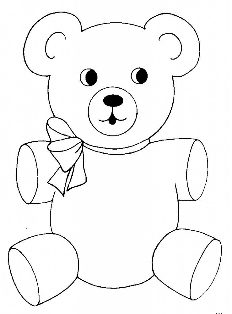 Free Printable Teddy Bear Coloring Pages For Kids | Pinterest ...