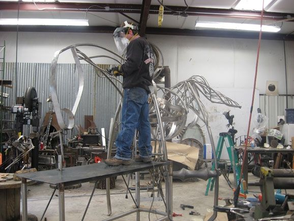 Stainless Steel Horse Sculptures