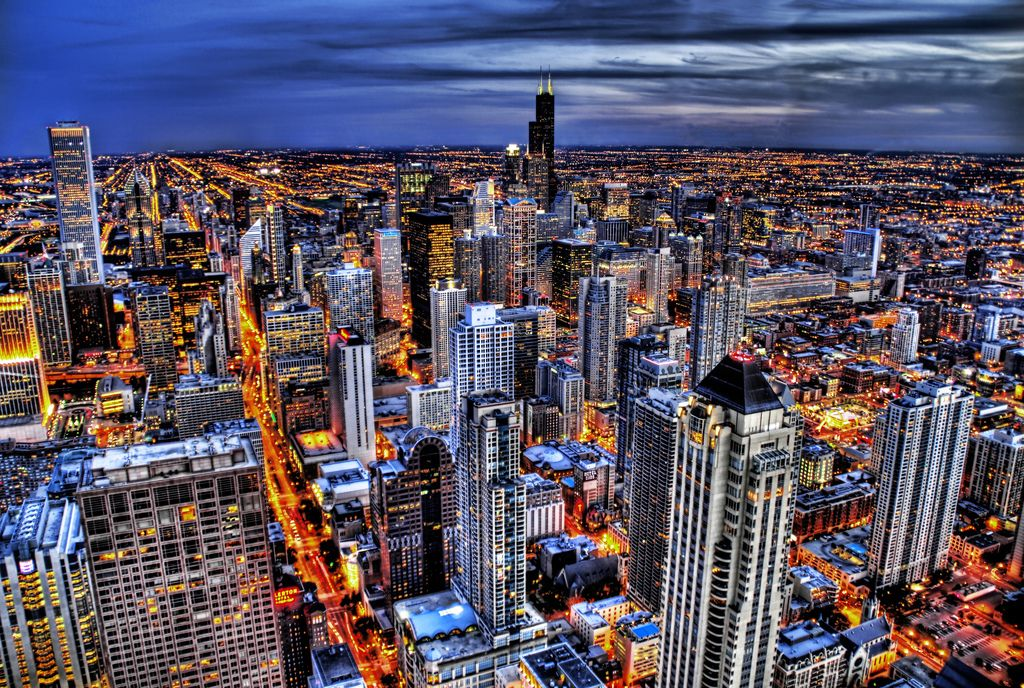 High Resolution Buildings City Desktop Wallpaper Of Chicago Illinois ID