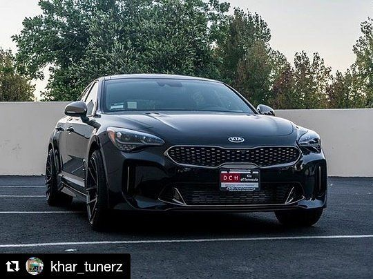 Repost Khar Tunerz The New Kia Stinger Gt 3 3tt Ark Performance Ar 270 Wheels And The Ark Performance Dts Catback Wheels Are In Sto Kia Stinger Kia Stinger