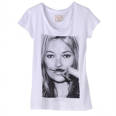 60bd53715b31 T-shirt manches courtes photo-print Kate Moss Eleven Paris - 3 Suisses