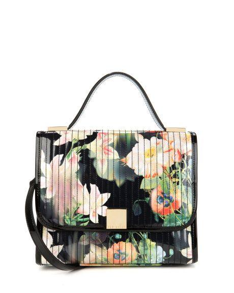 f05bb713e85 Opulent Bloom printed bag - Black | Bags | Ted Baker | I WANT | Bags ...