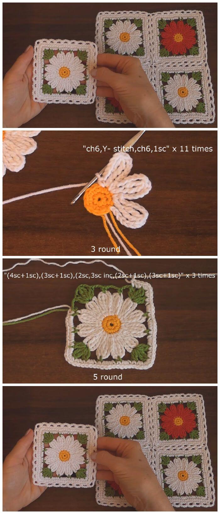 Easy Crochet Flower Motif - Learn to Crochet - Crochet Kingdom