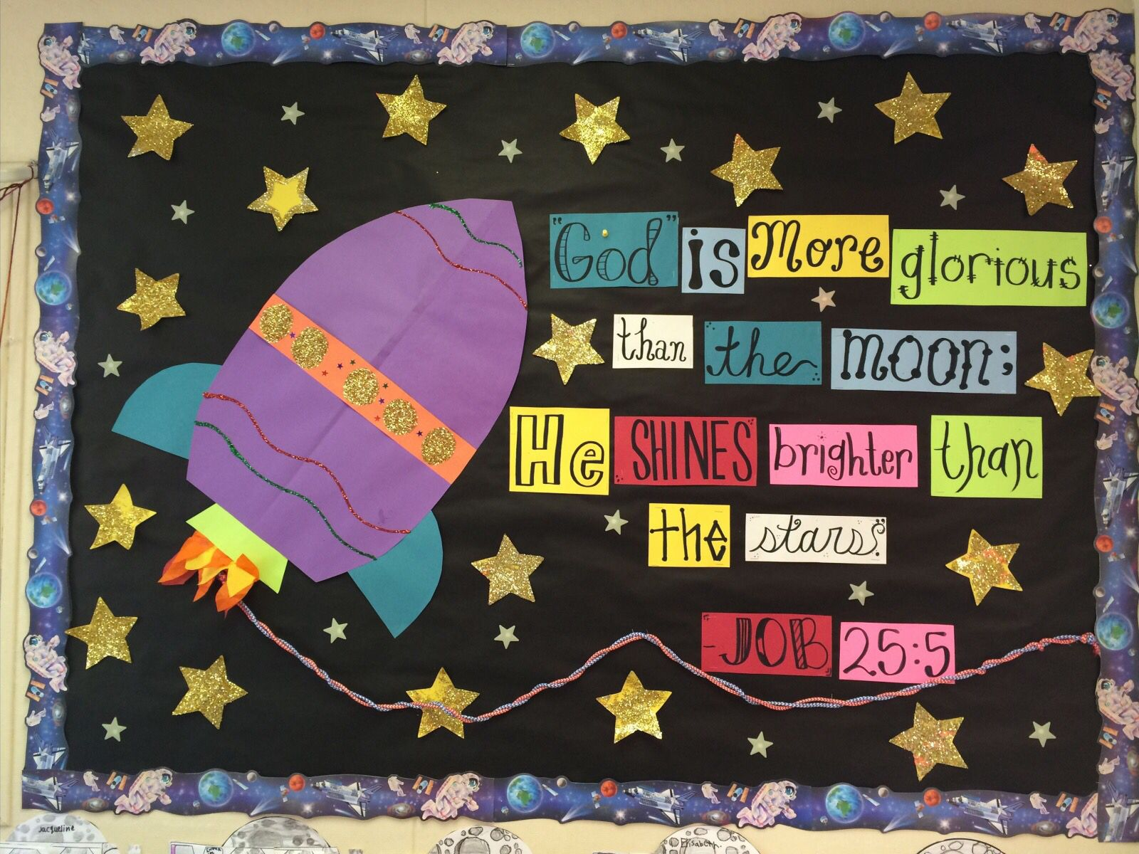 Outer Space Christian Bulletin Board