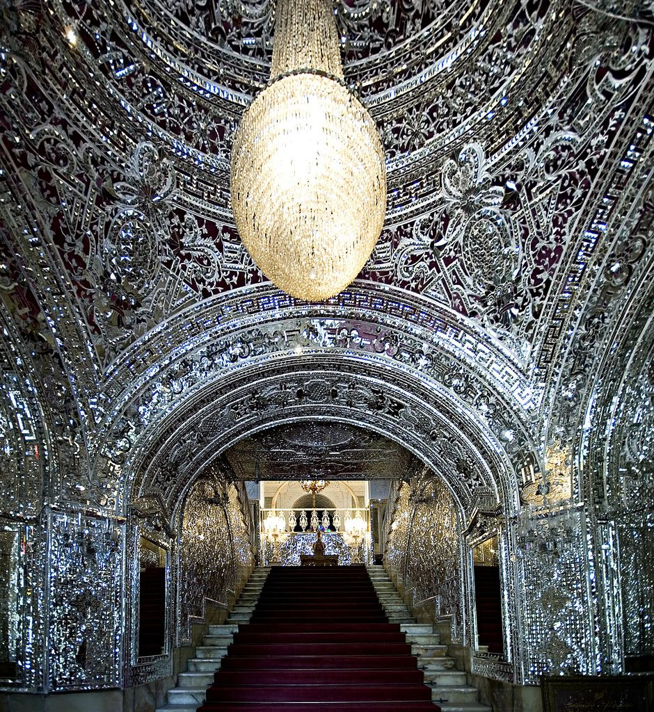 Large scale application of mirror mosaics in the hall of Golestan Palace, Tehran, Iran  Image by youngrodv (Rob) - flickr