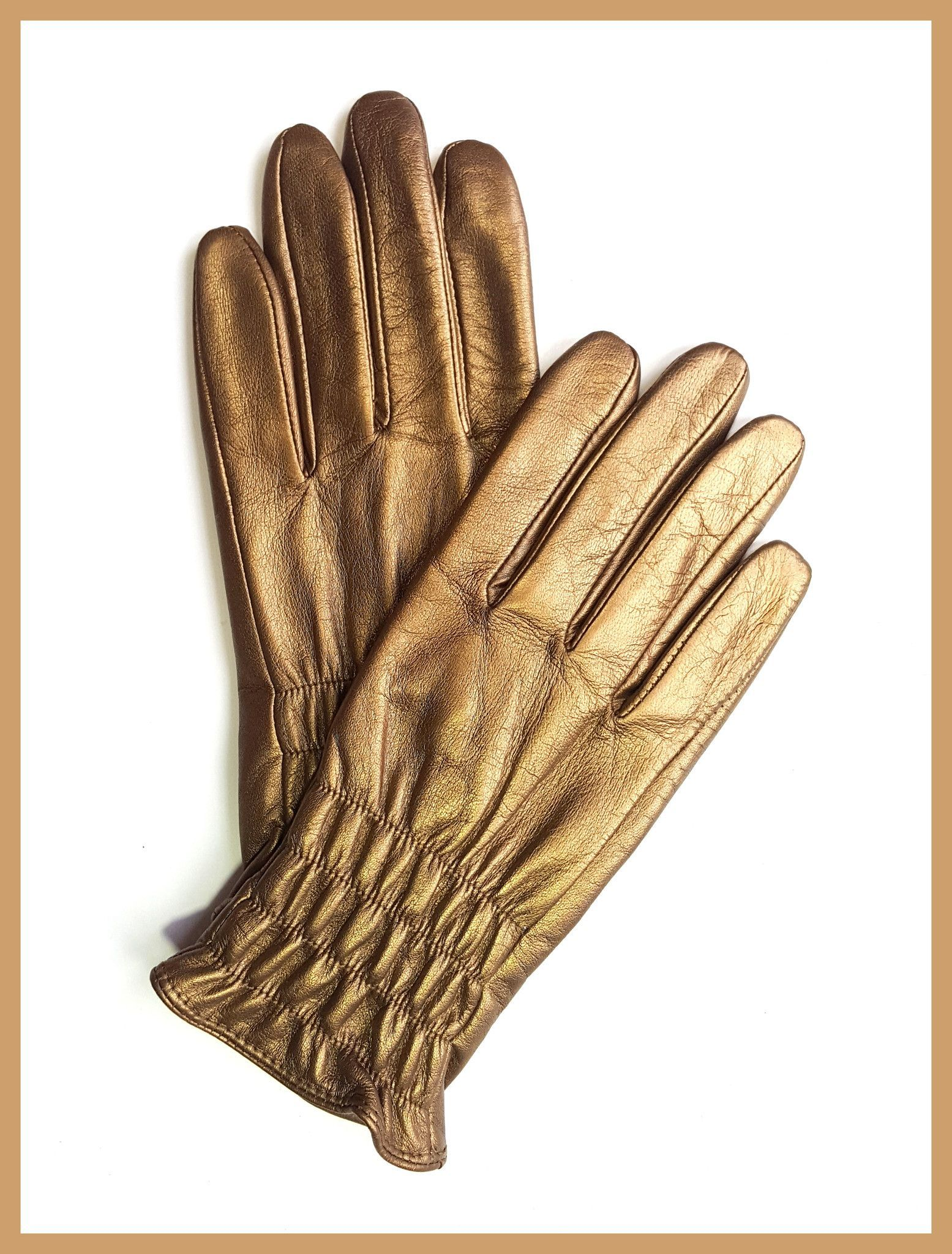 Gold Smartphone Friendly Gloves