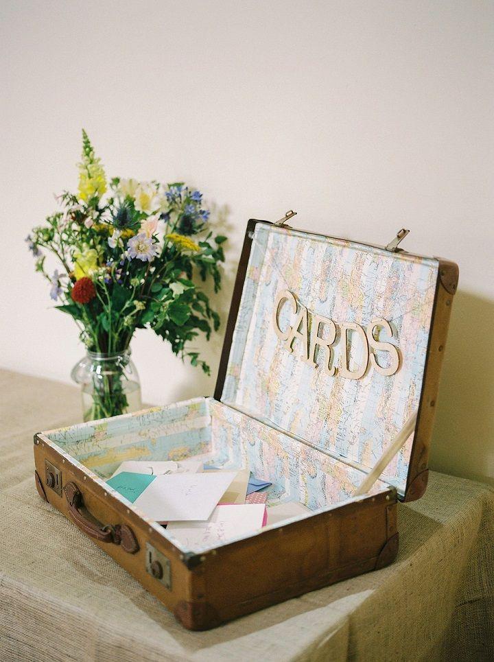 wedding card box vintage | Vintage suitcase as Wedding card box #weddingcardbox #woodencardbox #weddinginspiration #vintagewedding