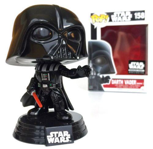 """Exclusive Star Wars Dark Vador avec Tie Fighter 3.75/"""" Pop Vinyl Figure FUNKO"""