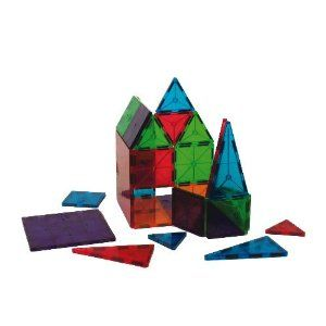 Kids are always playing with these in P's preschool class - Magna-Tiles Clear Colors 100 Piece Set