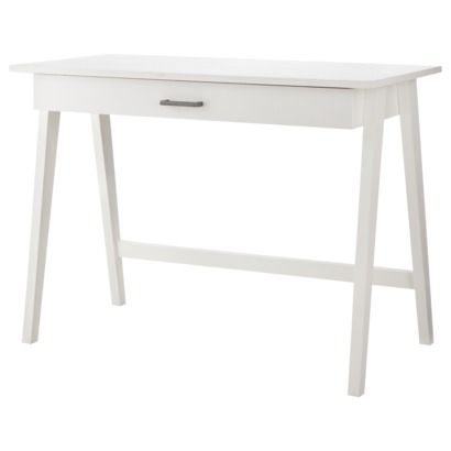 Paulo Wood Writing Desk With Drawers Project 62 White Writing