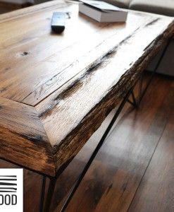 Retrowood Amal Old Oak Stolik Kawowy Stare Drewno 2