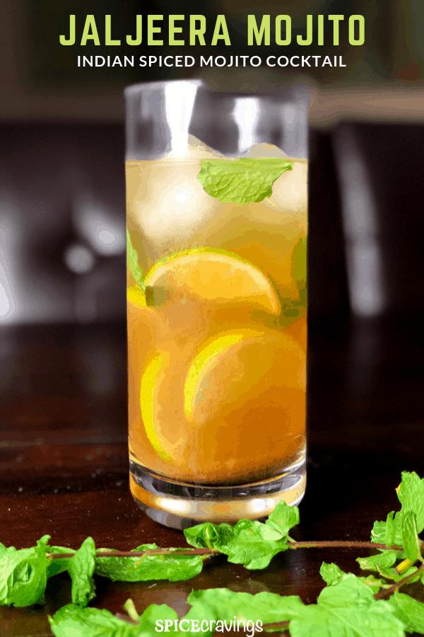 Spicy Low Carb Vodka Mojito Jal Jeera Mojito Cocktail Recipe Mojito Cocktail Mojito Indian Spices