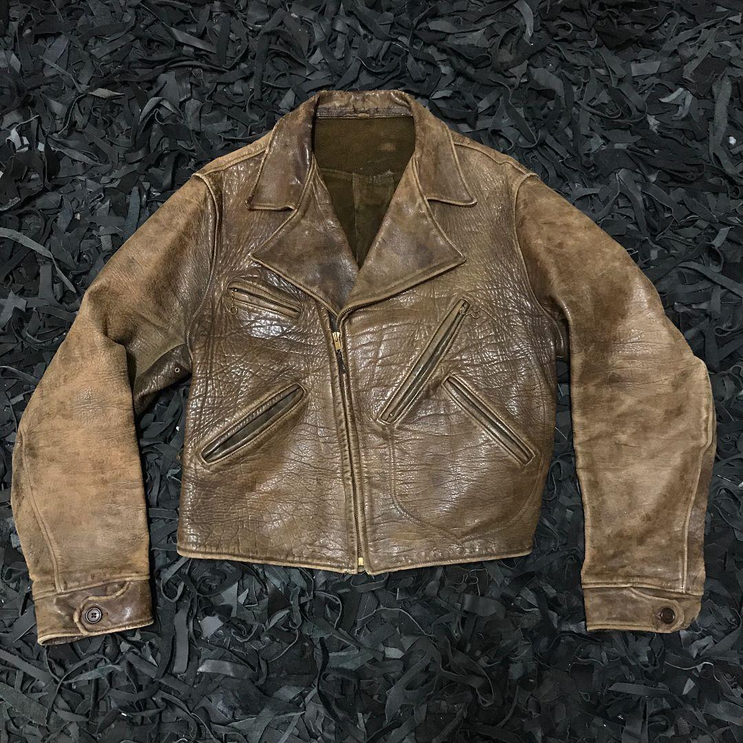 30 S 40 S Horsehide Leather D Pocket Jacket [ 1080 x 1080 Pixel ]