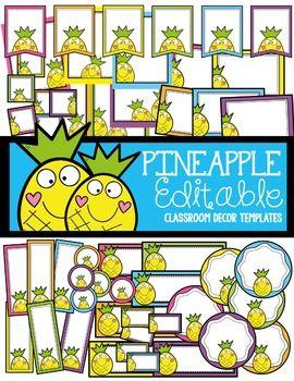 Pineapple Classroom Decor Templates In 2018 Activities