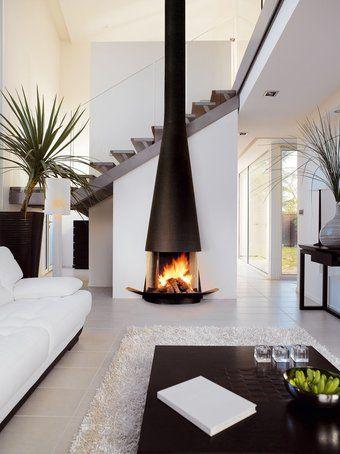Der Kamin als moderne Wohn-Skulptur decoracion Pinterest Design - offene feuerstelle wohnzimmer