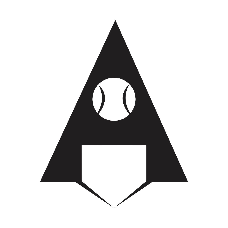 Baseball logo 'A' | Logos, Superhero, Art