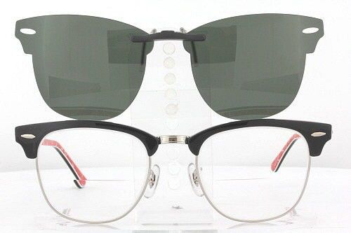 d1e88595cb1 Custom Fit Polarized Clip-On Sunglasses For Ray-Ban Clubmaster 3016 51X21  Rb3016
